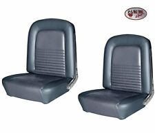 1967 Mustang Convertible Front & Rear Seat Upholstery - Blue Vinyl Made by TMI
