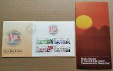 Singapore 1985 Public Housing Mini-sheet Stamps FDC (Lot B) 新加坡小全张邮票首日封 --- 公共居所