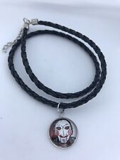 SAW JIGSAW HORROR CHARM NECKLACE HANDMADE