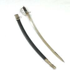 """Vintage Scimitar Sword with Scabbard 30"""" Steel Blade"""