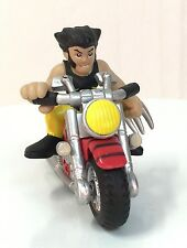 Marvel Super Hero Squad MATCHING Yellow / Black WOLVERINE & X-CYCLE motorcycle