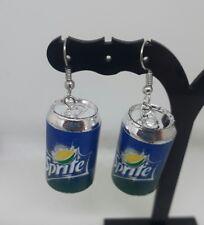 big SPRITE CAN drop earrings FUNKY jewellery SOFTDRINK earrings  SURGICAL STEEL