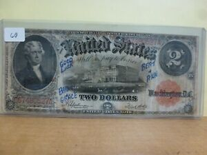 "1917 Legal Tender Note Fr# 60 ~ $2. ""Bracelet"" S# D67480527A"