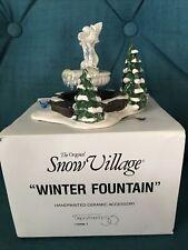 Dept. 56 Snow Village Winter Fountain Retired Frozen Water Christmas Village