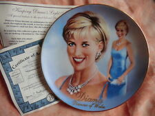 "Princess Diana Woman Of Style LTD EDT Plate ""Glowing & Glamorous & Certificate"