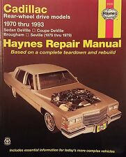 New Haynes Manual 21030 Cadillac Rear Wheel Drive Fits 1970-1993