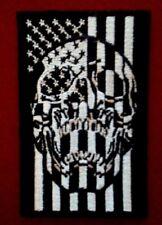 Stars & Stripes Skull Flag Patch 3'' by 2''