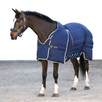 Horseware Rambo Optimo Stable Rug 400g - Navy with Beige - Stalldecke