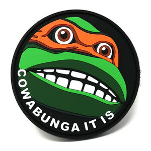 Cowabunga It is PVC Morale Patch | Funny Tactical Patch