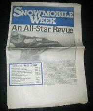 Vintage Snowmobile week Racing Newspaper Weekly Arctic Cat Ski Doo Polaris