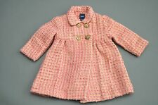 Baby Gap Pink Mauve Gold Tweed Coat Size 6-12 Months