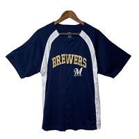Milwaukee Brewers MLB Baseball Jersey Mens Size XL Genuine Merchandise - Blue