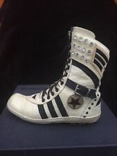 El Vaquero military/punk/ rock leather ankle boots , s.36 or 36,5