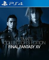 PS4 FINAL FANTASY XV ULTIMATE COLLECTORS EDITION NEW FACTORY SEALED W/POSTCARDS