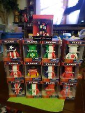 "Disney Vinylmation 3"" Park Set of 13 Flags Around World Japan Canada Brazil"