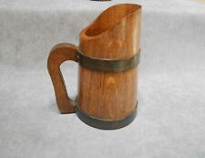 French Vintage wood hand made Pitcher