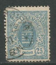 Luxembourg 1875-79 Coat of Arms 25c blue (36) used