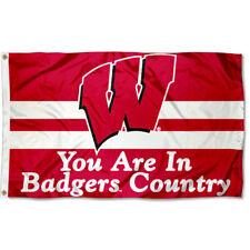 NCAA University of Wisconsin WCR25969091 Team Flag 3 x 5