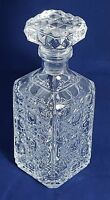 Beautiful Heavy Cristal D'arques Square Spirit Decanter. Weight: 1.730 Kg