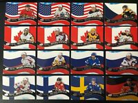 2020-21 Upper Deck Series 1 NHL Worldwide Lot Of 16 Top Stars
