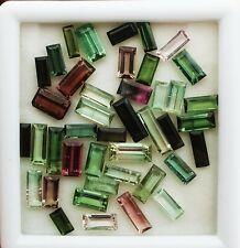 Turmalina Natural Corte Baguette sueltos piedras preciosas lote de 20 piezas 2*4-4*8 mm 10 quilates