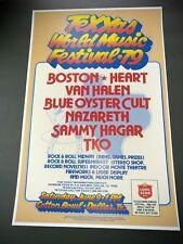Texxas World Music Festival Texxas Jam 1979 Poster Boston Van Halen Heart