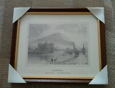 "Wood Framed Print of Conway Castle. 11"" x 9"""