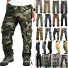 Men's Combat Tactical Cargo Work Army Pants Military Camouflage Trousers Casual