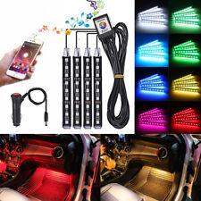 9 LED Car Interior Neon Smart Colorful RGB Floor Light Strip Phone App Control