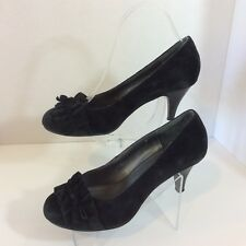 5c1612be4215 Mia Amore Women s Shoes US Size 8 Black   Suede Leather   Pumps Kitten Heel
