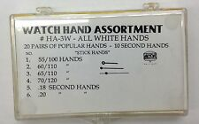 New Assortment of Watch Hands in White (Silver) Color - Free Shipping!