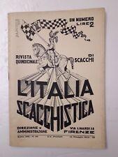 L'Italia scacchistica rivista quindicinale di scacchi n.10 anno 1931 IX