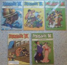 Mosaik 1989: Nr. 1+2+4+5+7-12 + 1990: 2-3 -- Comics aus dem Verlag Junge Welt