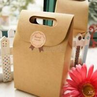 25pcs Brown Kraft Paper Party Loot Treat Gift Goody Bags Cupcake Muffin Box