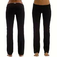 EVERLAST pantalone donna sport taglia S gamba dritta leggings elasticizzato nero