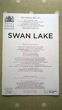 'Swan Lake.' Royal Opera House. 11 June 2018. Castbook. ( 8 sides.)