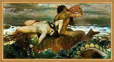 Triton and Nereide Arnold Böcklin nature spirits Aquarius Sea LW H a2 0083
