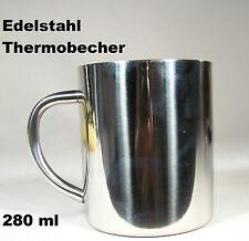 Edelstahl Thermobecher doppelwandig 280 ml Kaffeebecher Tasse spülmaschinenfest