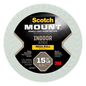 """3M Scotch Indoor Double Sided Mounting Tape Mega Roll 3.75 x 350"""" #110H-LONG-DC"""
