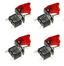 12V 20A Car Auto Red Safety Cover LED Light SPST Toggle Rocker Switch SK191 AA 8