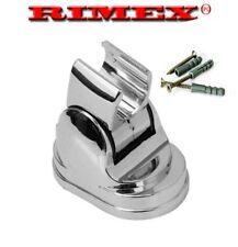 Ajustable Cromo Soporte de cabeza de ducha de baño montado en la pared soporte de montaje ABS