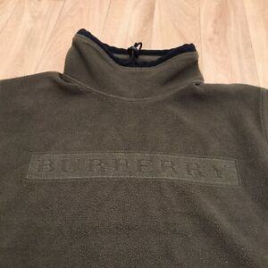 Burberry Boys Long Sleeve Sweater pullover kids green olive Size 12Y