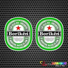 2x PUERTO RICO BORIKEN VINYL CAR STICKERS DECALS