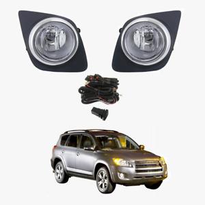 Fog Light Kit for Toyota RAV4 2009-2012 W/Wiring&Switch