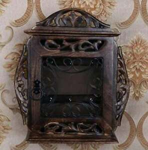 Box Wooden Key Holder keeper/ Wall Antique Key  key cabinet-key house/Key  gift