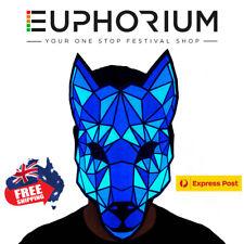 Euphorium LED Sound Activated Mask Rave EDM Halloween Light Up Scary AUS - Wolf
