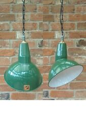 Benjamin Parabolic 1950's Industrial Vintage Enamel Pendant Lamp/Light REWIRED