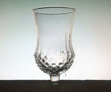 """Home Interiors Peg Votive Candle Holder Clear Large Diamond Crystal, 5 1/4"""" high"""