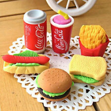 Novelty Cute Food Rubber Pencils  Erasers Set Stationery Children Toy Gifts SRMF