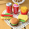 Novelty Cute Food Rubber Pencils Erasers Set Stationery Children Toy Gifts、N-p